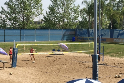 lady gades beach volleyball