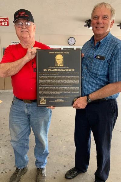 william harland boyd plaque