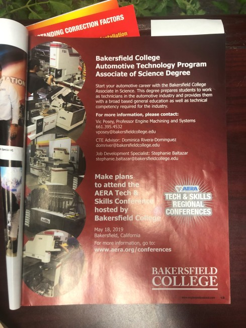 BC's ad in Engine Professional magazine