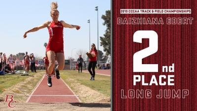 2019 CCCAA Track & Field Championships Daizhiana Ebert 2nd place long jump.