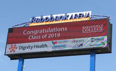 Commencement Sponsors on billboard