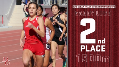2019 CCCAA Track & Field Championships Gabby Lugo 2nd place 1500m