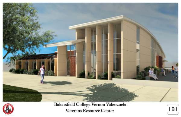Rendering of the soon to be finished Vernon Valenzuela Veterans Resource Center.