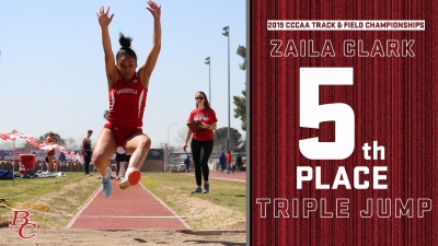 2019 CCCAA Track & Field Championships Zaila Clark 5th Place Triple Jump