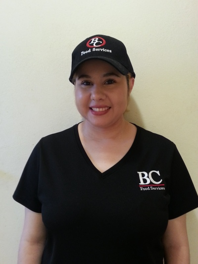 In BC Food Services cap and t-shirt.