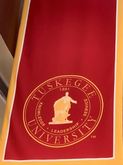 Tuskegee University Knowledge, leadership, service 1881 banner.