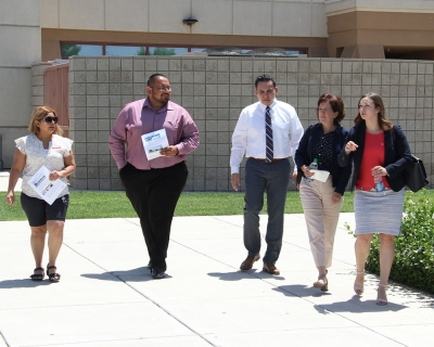 BC's Delano Team leads a tour of the campus