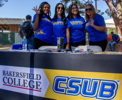 4 representatives from CSUB Transfer-in-4 team.