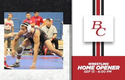 BC wrestling home opener sep 13 - 6:00 PM.
